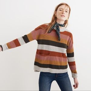 Madewell Patch Pocket Stripe Pullover Sweater